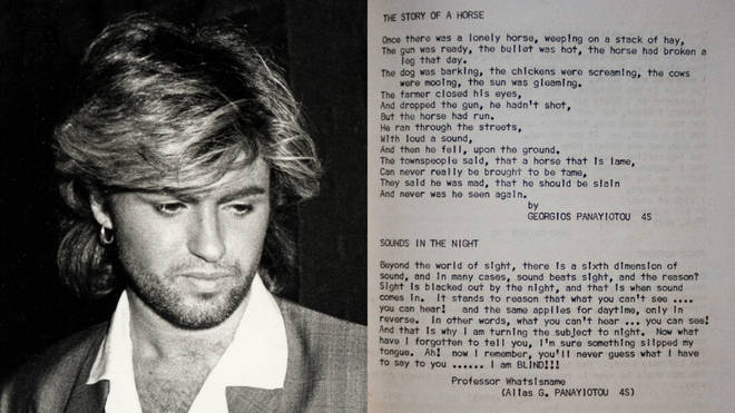 George Michael's unearthed poetry shows the star's talent at a young age