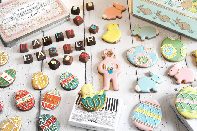 Biscuiteers are offering Easter delivery if you order before 1pm on Thursday