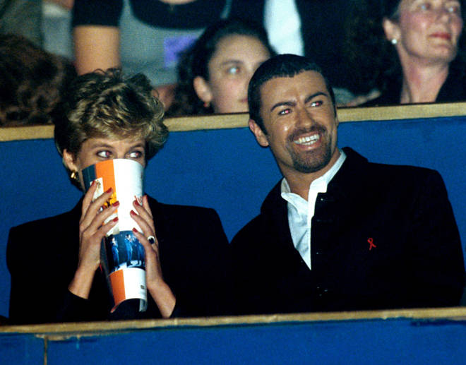 Princess Diana had many close relationships with musical stars including George Michael