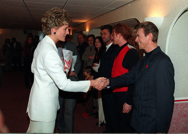 Princess Diana and David Bowie in 1993
