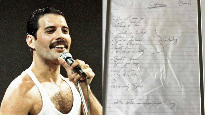 Freddie Mercury handwritten setlist from 1978 up for sale