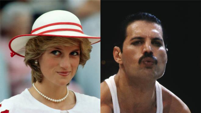 Diana and Freddie Mercury