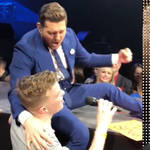 Justyn Skubovius sang with Michael Buble in Winnepeg