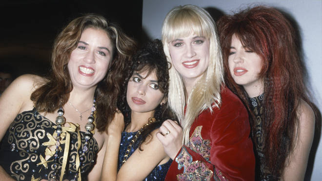 The Bangles in 1988 (Hoffs second from left)