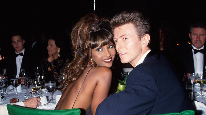 Iman and David Bowie pictured in 1992