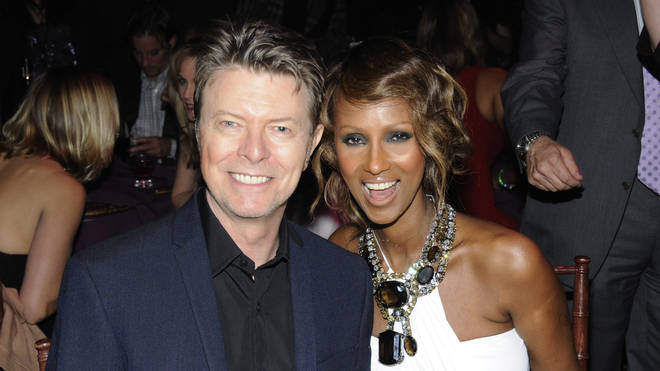 David and Iman pictured in 2008