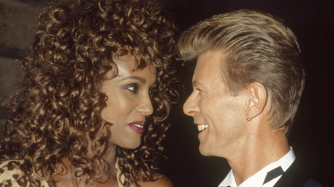 Iman and David Bowie got engaged in 1992