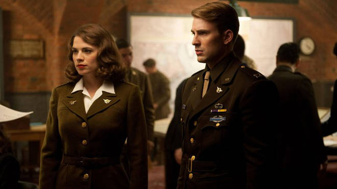 Steve and Peggy in Captain America