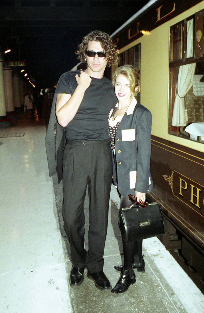 Kylie dated Michael in the late 80s