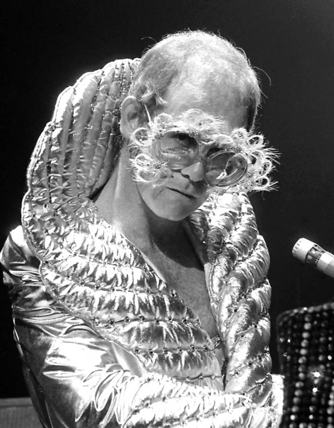 Elton pictured in 1974