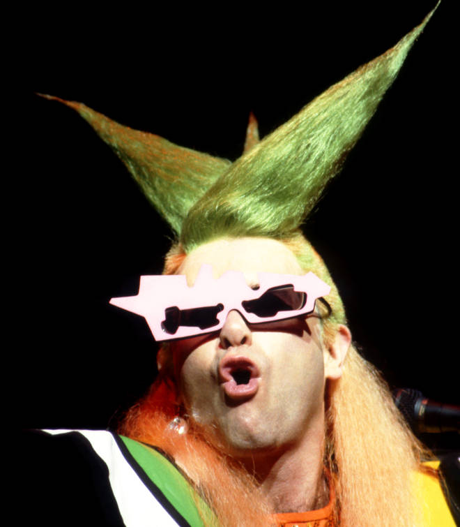 Elton John on stage in 1986