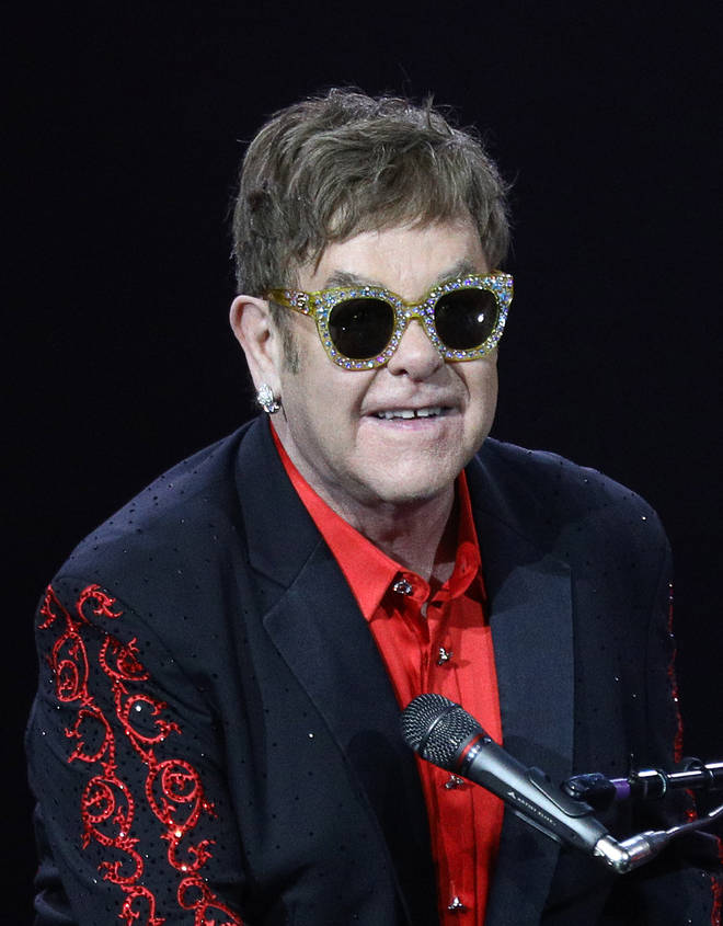 Elton John on stage in Russia in 2017