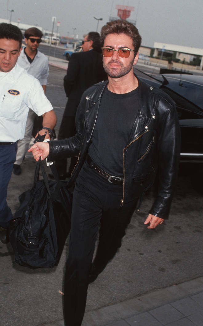 George Michael Sighted at Los Angeles International Airport - October 25, 1992