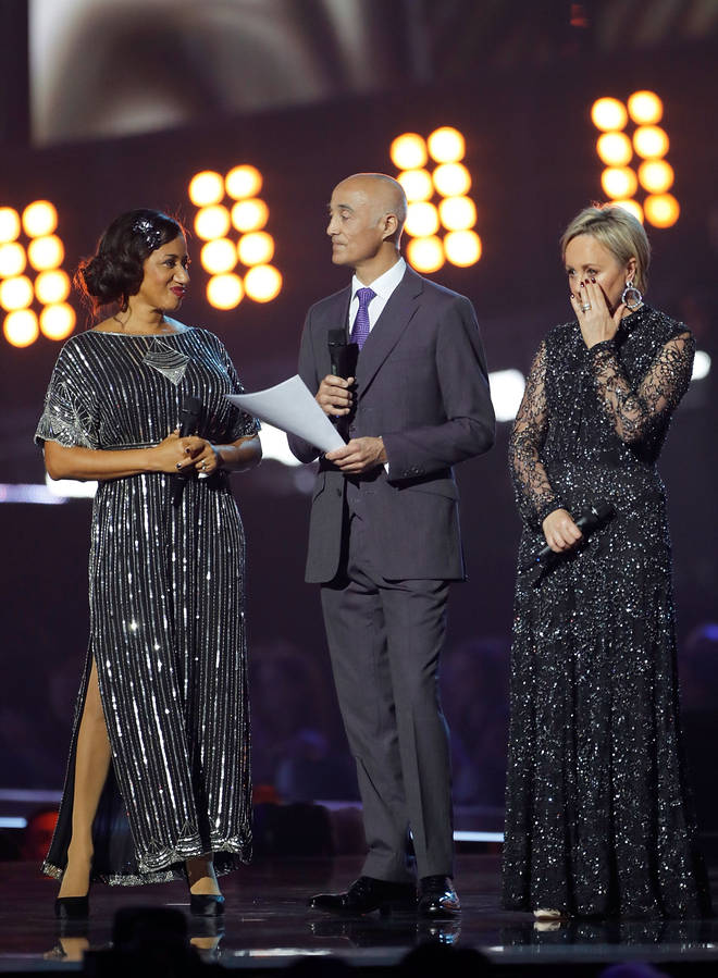 Andrew, Shirlie and Pepsi paying tribute to George Michael at the 2017 Brit Awards