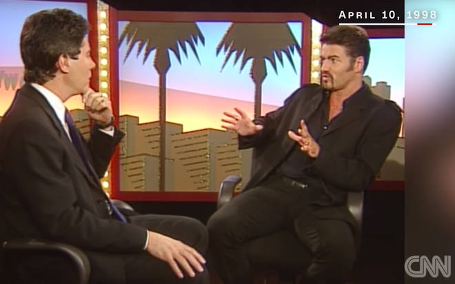 George Michael speaking to Jim Moret in the famous CNN 1998 interview