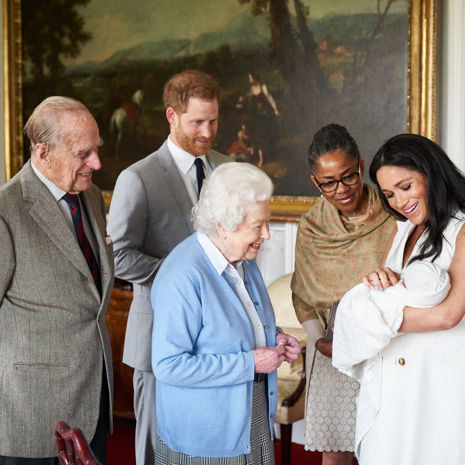 The Queen and Prince Philip meet Archie Harrison