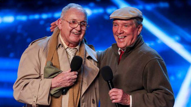 The Pensionalities on BGT - Henry (left) and Malcolm (right)