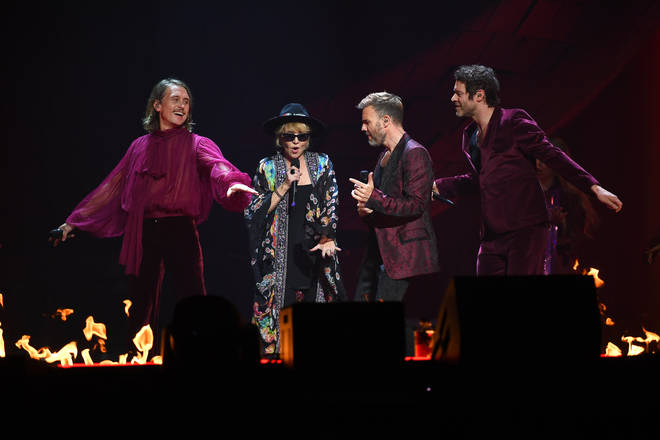 Take That Dress and Lulu perform a dress rehearsal on April 11, 2019