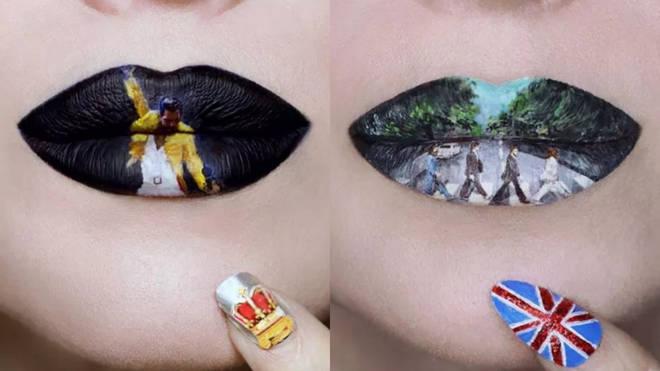 Ryan Kelly recreates iconic scenes on her lips