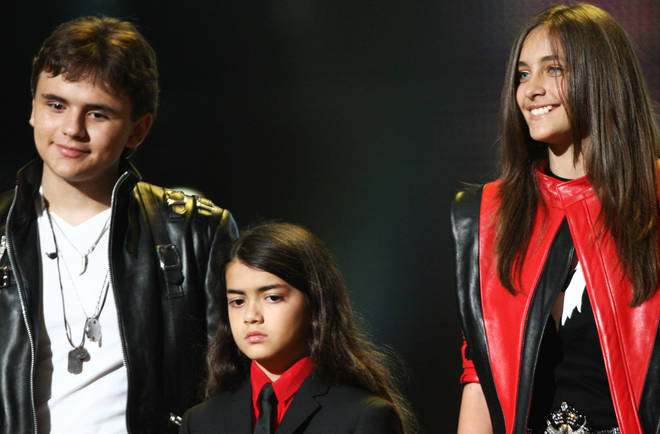 Blanket Jackson has made a rare public appearance at brother Prince's graduation