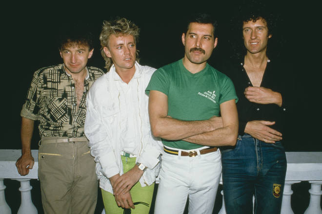 John Deacon (left) quit Queen in 1997