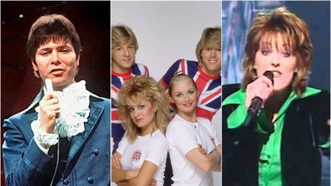 The UK representing the UK, from Cliff Richard, Bucks Fizz and Katrina and the Waves