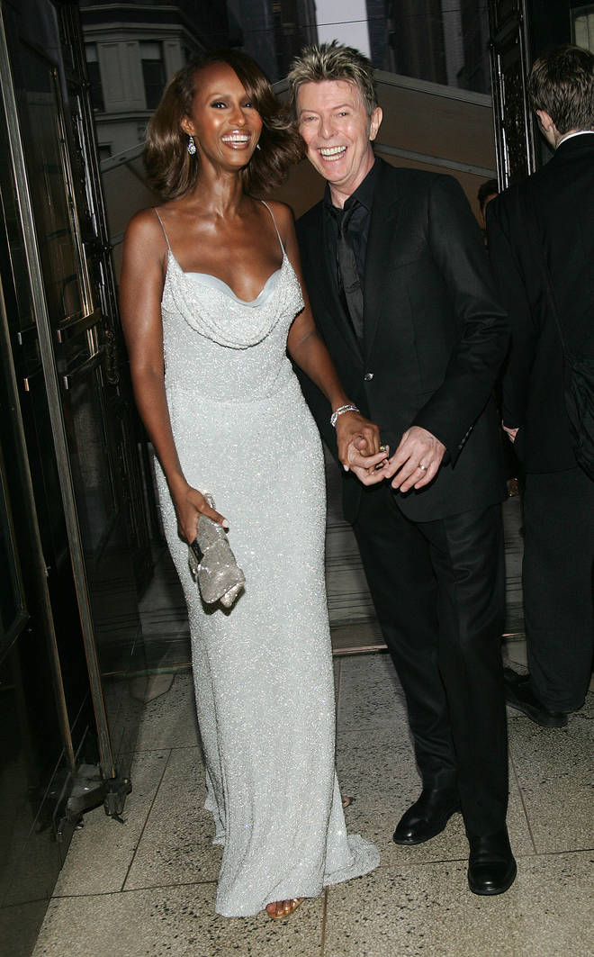 David Bowie - pictured with wife Iman - had a famously cheeky sense of humour