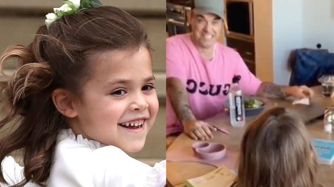 Robbie Williams' daughter singer 'Angels' to her father in adorable video