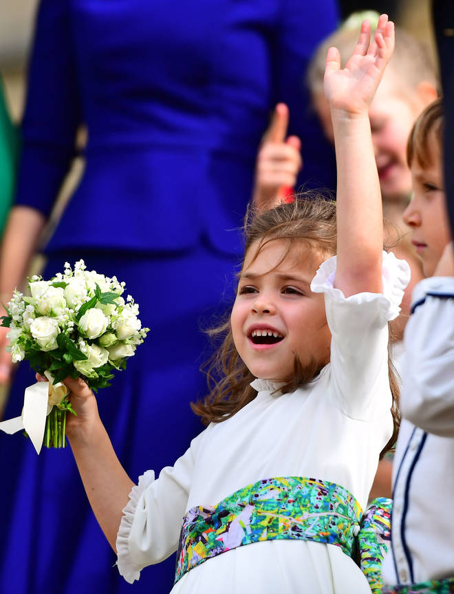Teddy captured hearts when she was a bridesmaid at Princess Eugenie's wedding