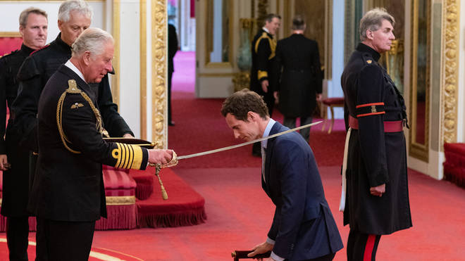 Andy Murray is knighted by Prince Charles