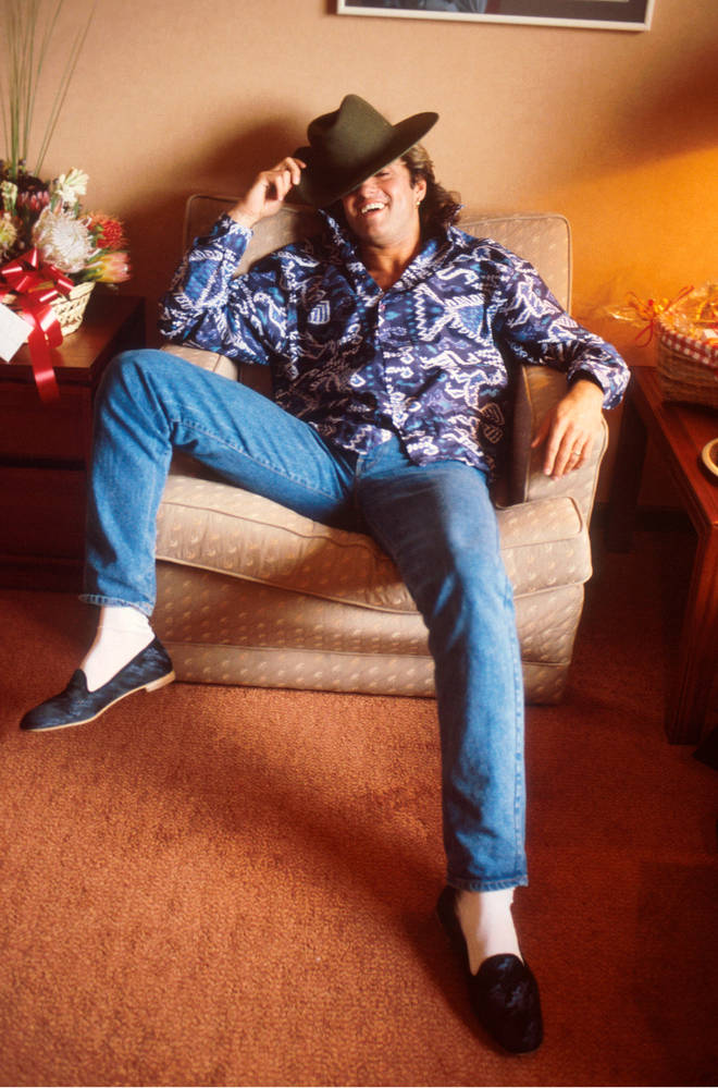 George Michael relaxing in Sydney, Australia, January 1985.