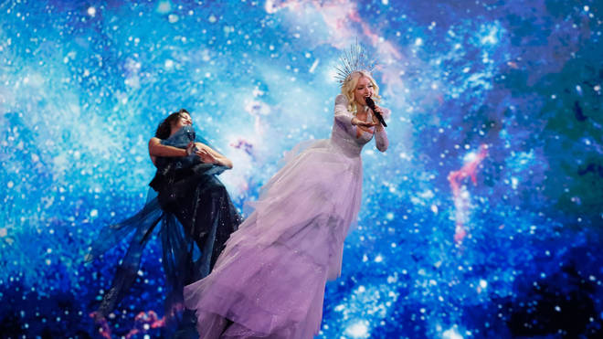 Australia's Kate Miller-Heidke performs the song Zero Gravity during the first semi-final of the 64th edition of the Eurovision Song Contest 2019