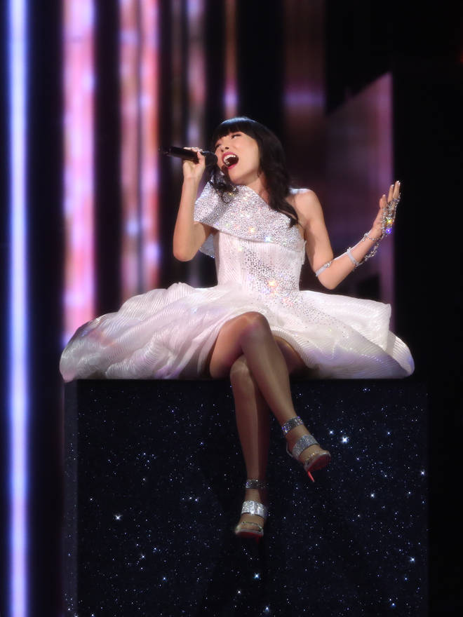 Singer Dami Im representing Australia performs on stage during the Grand Final of the 61st annual Eurovision Song Contest