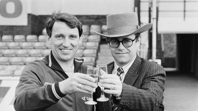 Elton John and Graham Taylor in 1984
