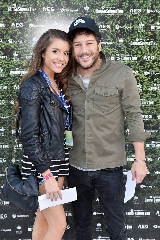 Matt Cardle with current girlfriend Amber Hernaman