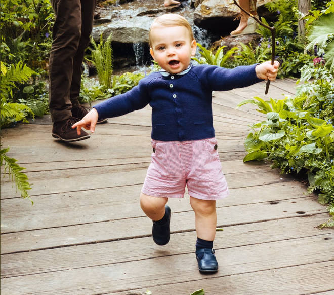 Prince Louis takes his first steps on camera in RHS Chelsea Flower Show