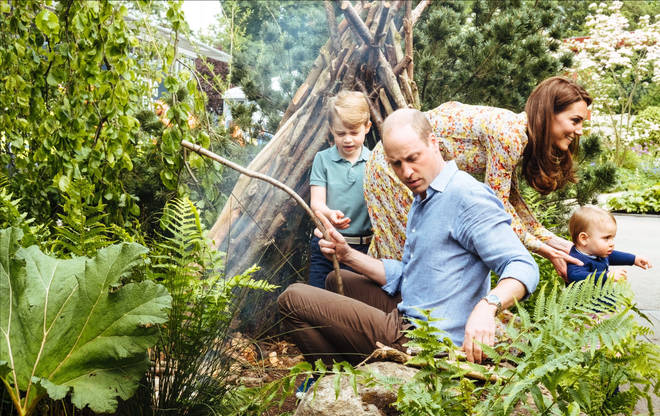 The Royal family enjoy outdoor activities as they explore the garden together