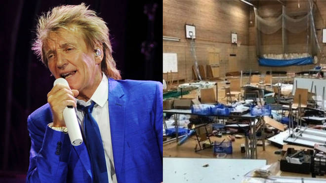 Rod Stewart has donated money to a model railway club who had their work destroyed