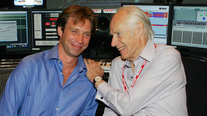 Giles and George Martin in 2006