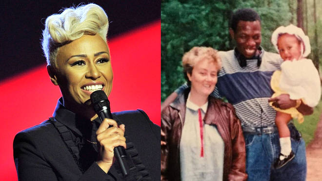 Emeli Sande and her parents