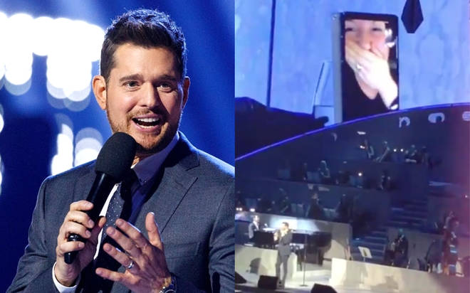 Michael Buble FaceTimes a fan