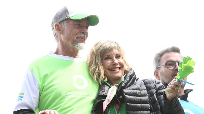 Olivia Newton-John with husband John Easterling