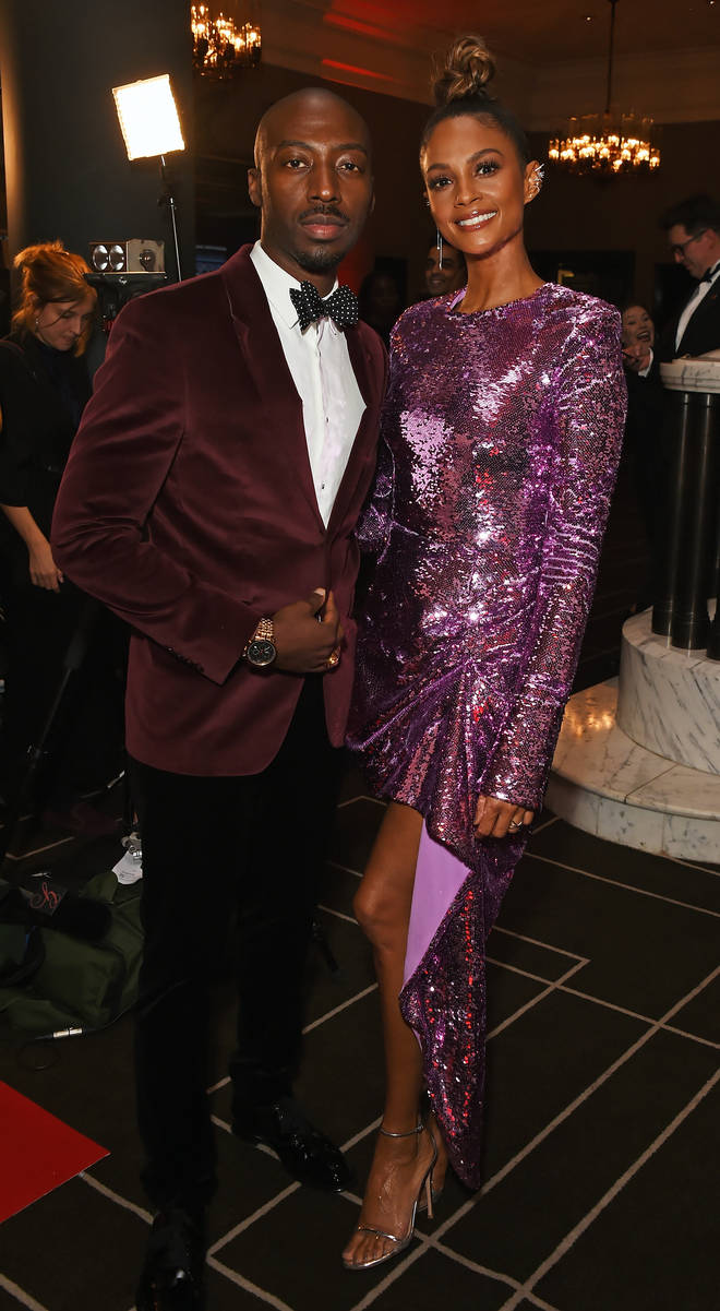 Azuka Ononye and Alesha Dixon attend The 9th Annual Global Gift Gala held at The Rosewood Hotel on November 2, 2018 in London, England.