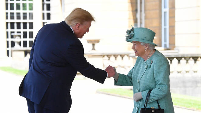Donald Trump meets the Queen in 2019
