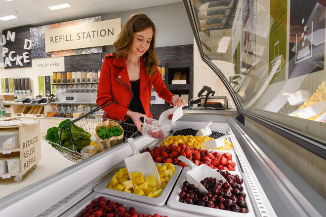 Frozen fruit pick-and-mix is available at the Oxford Waitrose branch