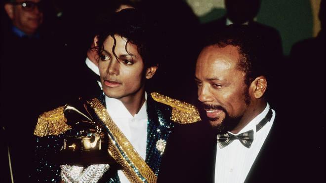 Michael Jackson and Quincy Jones in 1984