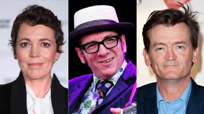 Olivia Colman, Elvis Costello and Feargal Sharkey are named in the Queen's Birthday Honours