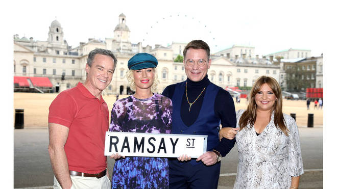 Denise Van Outen and Richard Arnold in Neighbours