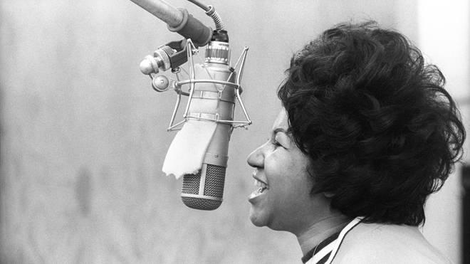 Aretha Recording In NY in 1969