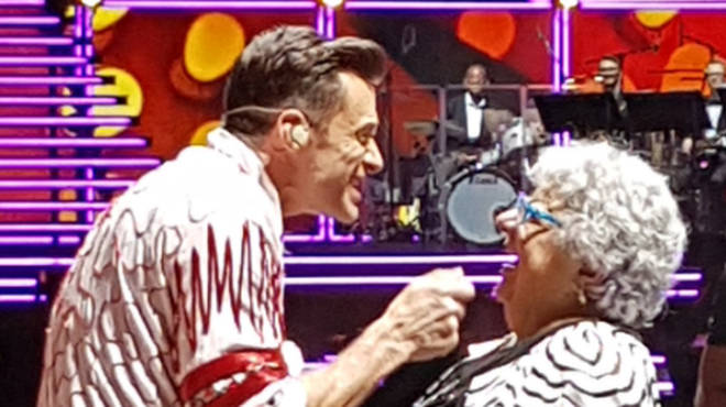 Hugh Jackman dances with Pauline